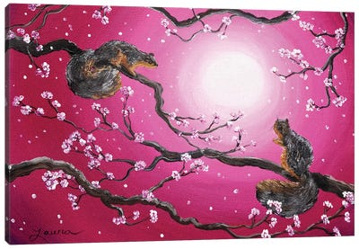 Sunrise Squirrels Canvas Art Print