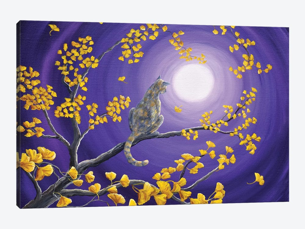 The Moon Shone Upon Me by Laura Iverson 1-piece Canvas Art Print