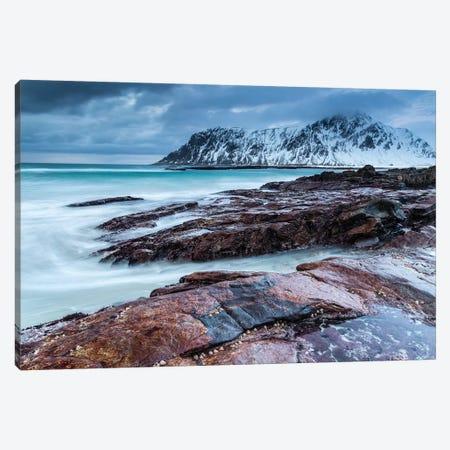Norway, Lofoten, Skagsanden Beach I Canvas Print #LAJ101} by Mikolaj Gospodarek Art Print