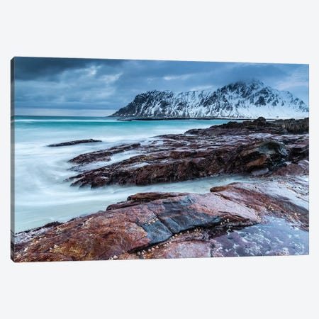 Norway, Lofoten, Skagsanden Beach I Canvas Print #LAJ101} by Mikolaj Gospodarek Art Print