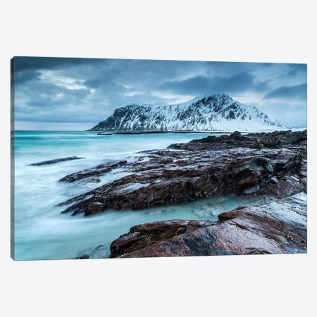 Norway, Lofoten, Skagsanden Beachskagsanden Beach Canvas Print #LAJ103} by Mikolaj Gospodarek Canvas Print