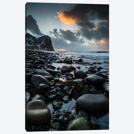 Norway, Lofoten, Unstad Beach II Canvas Print #LAJ105} by Mikolaj Gospodarek Canvas Artwork