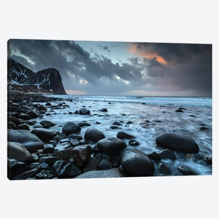 Norway, Lofoten, Unstad Beach III Canvas Print #LAJ106} by Mikolaj Gospodarek Canvas Artwork