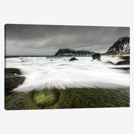 Norway, Lofoten, Uttakleiv Beach I Canvas Print #LAJ107} by Mikolaj Gospodarek Canvas Artwork