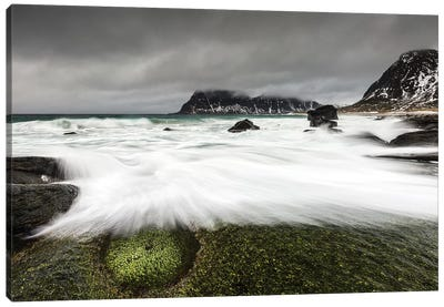 Norway, Lofoten, Uttakleiv Beach I Canvas Art Print