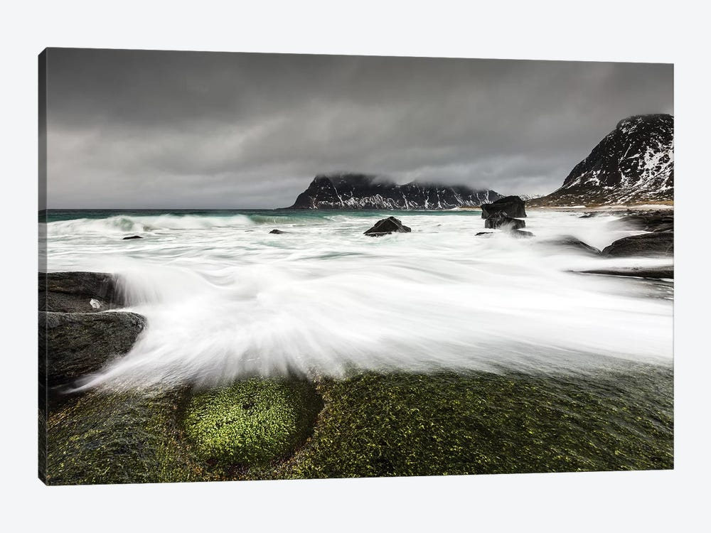 Norway, Lofoten, Uttakleiv Beach I 1-piece Canvas Print
