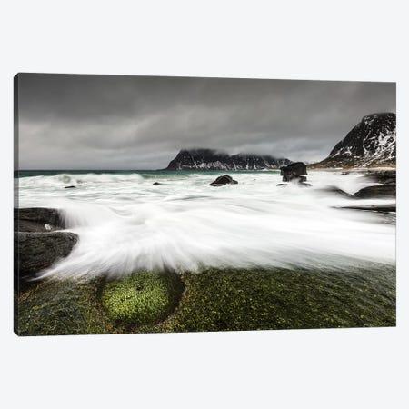 Norway, Lofoten, Uttakleiv Beach I Canvas Print #LAJ107} by Mikolaj Gospodarek Canvas Artwork