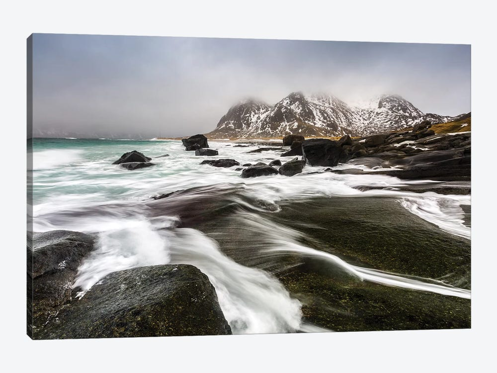 Norway, Lofoten, Uttakleiv Beach III by Mikolaj Gospodarek 1-piece Canvas Print