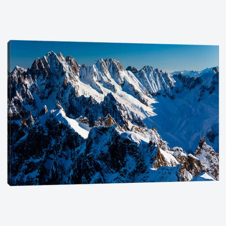 France, Chamonix, Alps, View From Aiguille du Midi I Canvas Print #LAJ10} by Mikolaj Gospodarek Canvas Wall Art