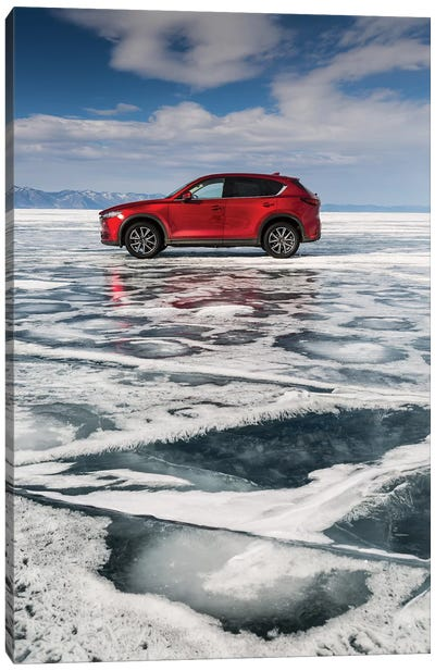 Lake Baikal, Russia, Siberia, Mazda CX-5 Canvas Art Print
