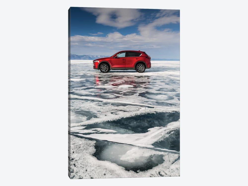 Lake Baikal, Russia, Siberia, Mazda CX-5 by Mikolaj Gospodarek 1-piece Canvas Art Print