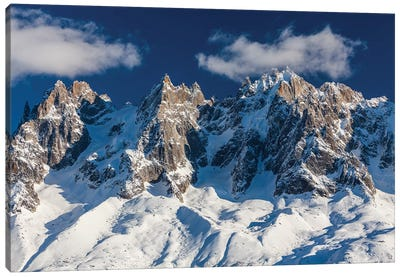 France, Chamonix, Alps, View From Brevent Canvas Art Print
