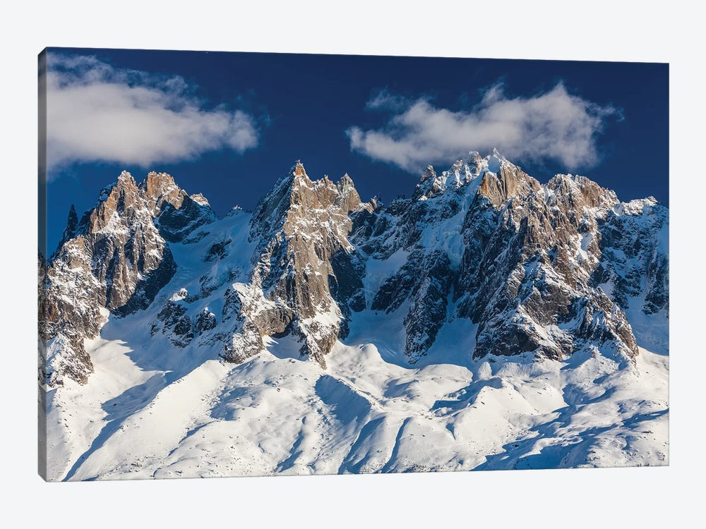 France, Chamonix, Alps, View From Brevent 1-piece Canvas Print