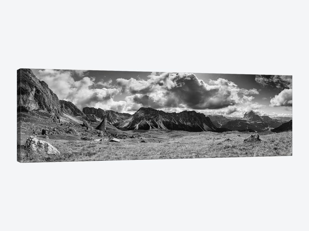 Seceda, Dolomites, Italy (B&W) 1-piece Canvas Artwork