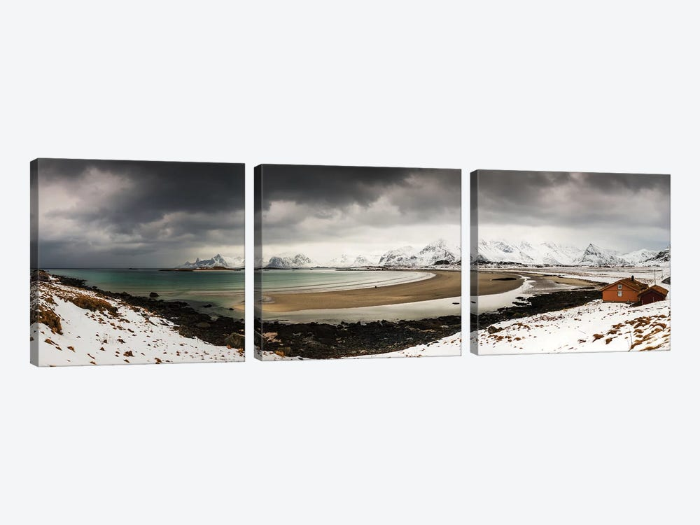 Ytresand, Lofoten, Norway by Mikolaj Gospodarek 3-piece Canvas Art Print