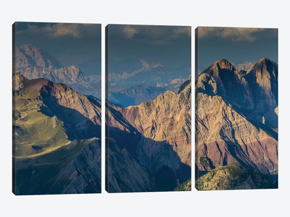 Italy, Alps, Dolomites, Col Margherita Park II by Mikolaj Gospodarek 3-piece Canvas Wall Art