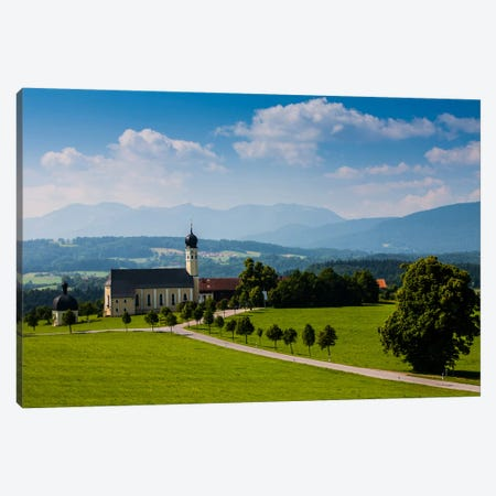 Germany, Bavaria, Alps, Church Irschenberg Canvas Print #LAJ14} by Mikolaj Gospodarek Canvas Art Print
