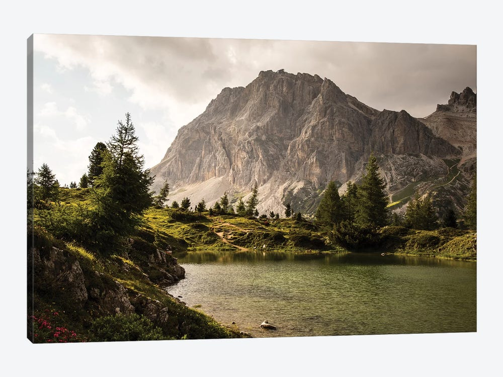 Italy, Alps, Dolomites, Lago di Limides I 1-piece Canvas Print