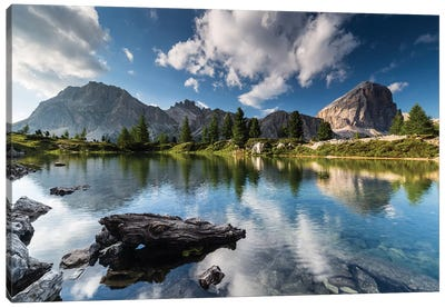 Italy, Alps, Dolomites, Lago di Limides III Canvas Art Print