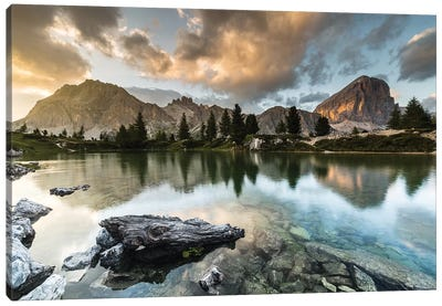 Italy, Alps, Dolomites, Lago di Limides IV Canvas Art Print