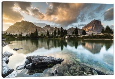 Italy, Alps, Dolomites, Lago di Limides IV Canvas Art Print