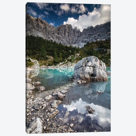 Italy, Alps, Dolomites, Mountains, Lago di Sorapiss II Canvas Print #LAJ160} by Mikolaj Gospodarek Canvas Art Print