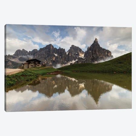 Italy, Alps, Dolomites, Mountains, Passo Rolle - Rifugio Baita Segantini II Canvas Print #LAJ163} by Mikolaj Gospodarek Art Print