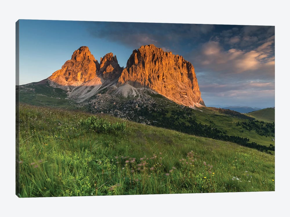 Italy, Alps, Dolomites, Mountains, Passo Sella, Sassolungo by Mikolaj Gospodarek 1-piece Canvas Wall Art