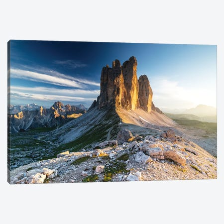 Italy, Alps, Dolomites, Mountains, Tre Cime di Lavaredo I Canvas Print #LAJ165} by Mikolaj Gospodarek Canvas Art