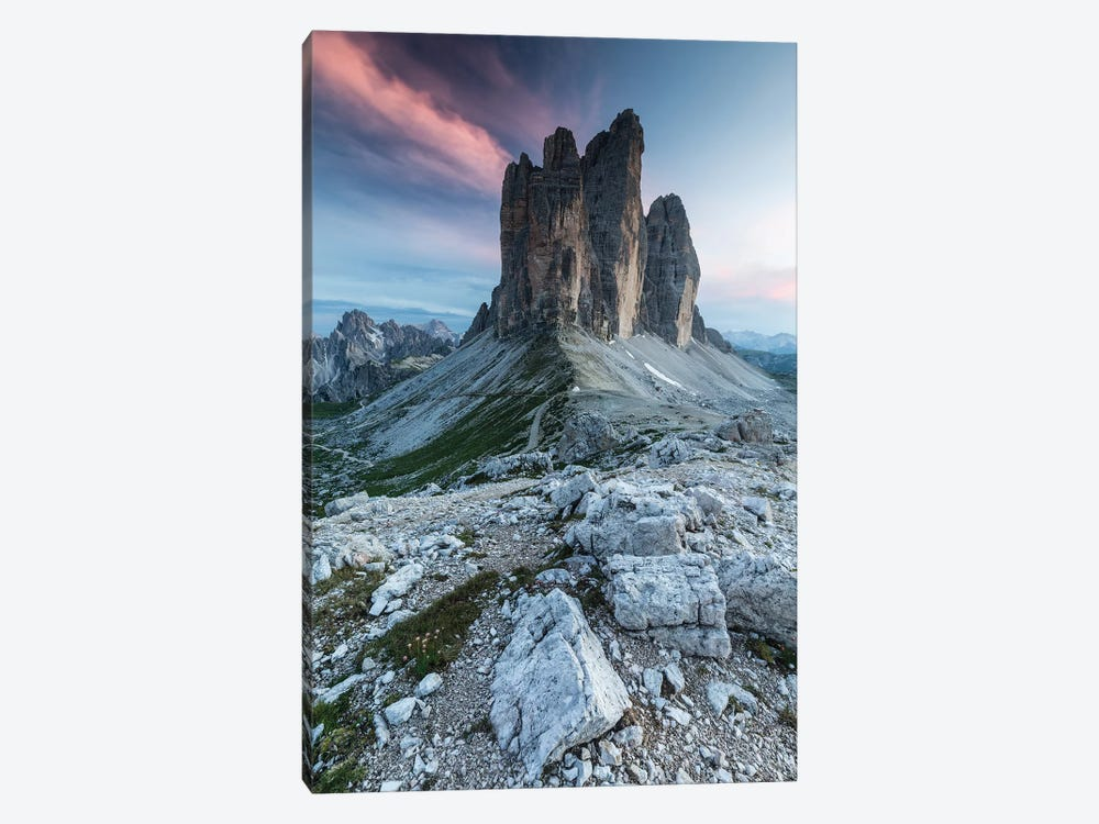 Italy, Alps, Dolomites, Mountains, Tre Cime di Lavaredo II by Mikolaj Gospodarek 1-piece Canvas Artwork