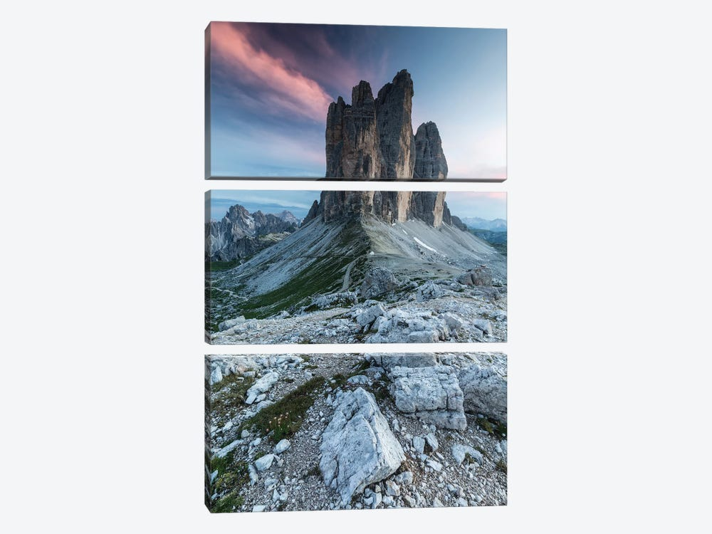 Italy, Alps, Dolomites, Mountains, Tre Cime di Lavaredo II by Mikolaj Gospodarek 3-piece Canvas Artwork