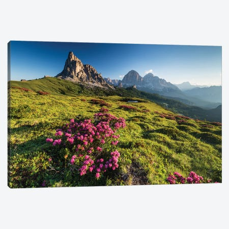 Italy, Alps, Dolomites, Mountains, Veneto, Belluno, Giau Pass - La Gusela 3-Piece Canvas #LAJ173} by Mikolaj Gospodarek Canvas Art
