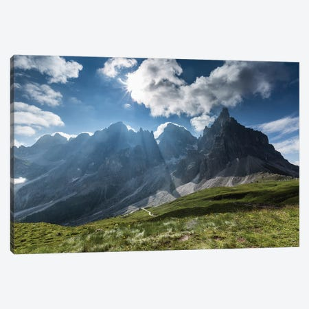 Italy, Alps, Dolomites, Passo Rolle. Pale di San Martino I Canvas Print #LAJ174} by Mikolaj Gospodarek Canvas Print