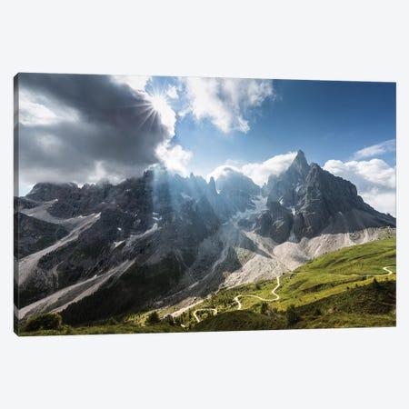 Italy, Alps, Dolomites, Passo Rolle. Pale di San Martino II Canvas Print #LAJ175} by Mikolaj Gospodarek Canvas Art Print
