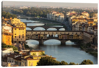 Italy, Tuscany, Florence - Ponte Vecchio Canvas Art Print