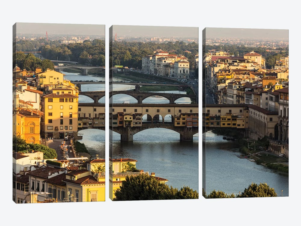 Italy, Tuscany, Florence - Ponte Vecchio 3-piece Canvas Art Print