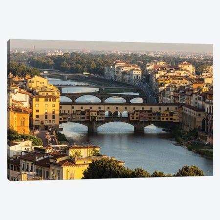 Italy, Tuscany, Florence - Ponte Vecchio Canvas Print #LAJ183} by Mikolaj Gospodarek Art Print