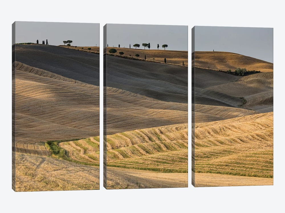 Italy, Tuscany, Province of Siena, Crete Senesi III by Mikolaj Gospodarek 3-piece Canvas Artwork