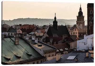 Poland, Lesser Poland, Cracow - St. Mary's Basilica II Canvas Art Print