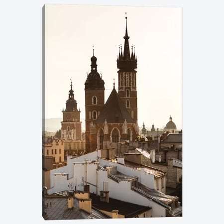 Poland, Lesser Poland, Cracow - St. Mary's Basilica III Canvas Print #LAJ198} by Mikolaj Gospodarek Canvas Artwork