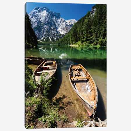Italy, Dolomites, Lago di Braies Canvas Print #LAJ19} by Mikolaj Gospodarek Canvas Artwork