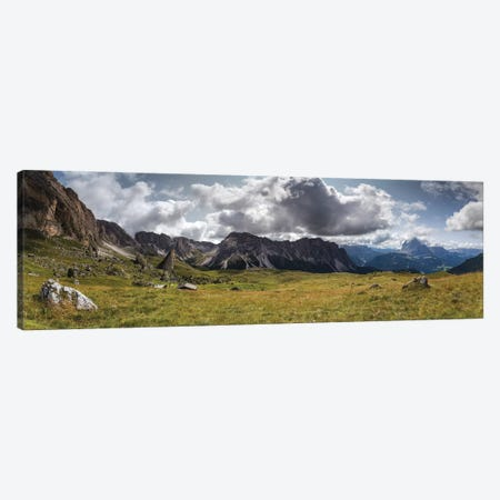 Europe, Italy, Alps, Dolomites, South Tyrol, Val Gardena, View From Malga Pieralongia Alm Canvas Print #LAJ279} by Mikolaj Gospodarek Canvas Print