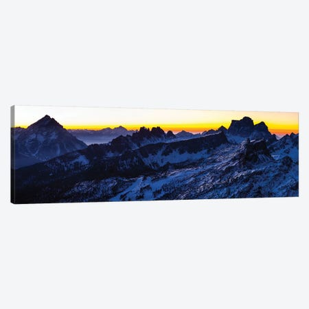 Europe, Italy, Alps, View From Lagazuoi. Winter Dolomites I Canvas Print #LAJ280} by Mikolaj Gospodarek Canvas Wall Art