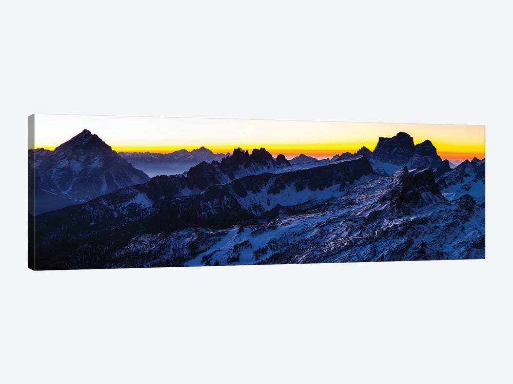 Europe, Italy, Alps, View From Lagazuoi. Winter Dolomites I by Mikolaj Gospodarek 1-piece Canvas Artwork