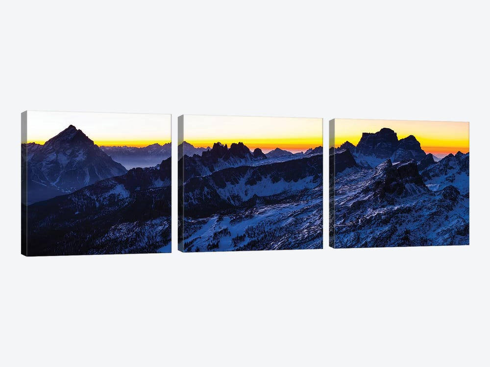 Europe, Italy, Alps, View From Lagazuoi. Winter Dolomites I by Mikolaj Gospodarek 3-piece Canvas Art