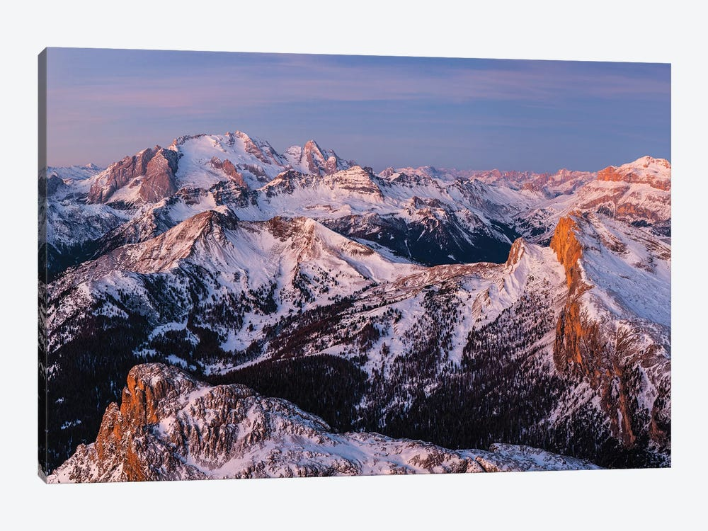 Europe, Italy, Alps, View From Lagazuoi. Winter Dolomites II by Mikolaj Gospodarek 1-piece Canvas Print