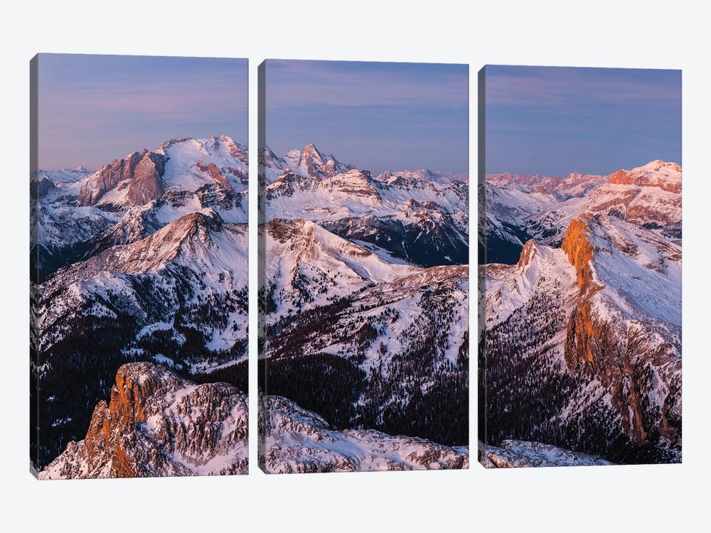 Europe, Italy, Alps, View From Lagazuoi. Winter Dolomites II by Mikolaj Gospodarek 3-piece Canvas Print