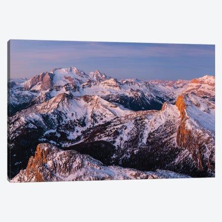 Europe, Italy, Alps, View From Lagazuoi. Winter Dolomites II Canvas Print #LAJ281} by Mikolaj Gospodarek Canvas Wall Art
