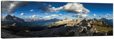 Europe, Italy, Alps, Dolomites, View From Rifugio Nuvolau Canvas Art Print
