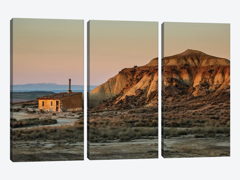 Europe, Spain, Bardenas Reales I by Mikolaj Gospodarek 3-piece Canvas Print